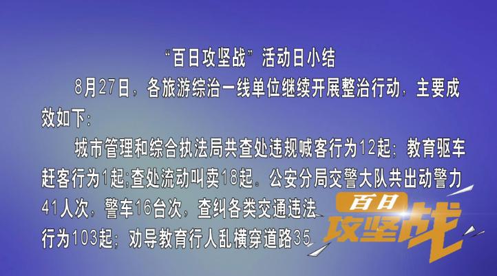 """""""百日攻坚战""""活动日小结(8月27日)"""