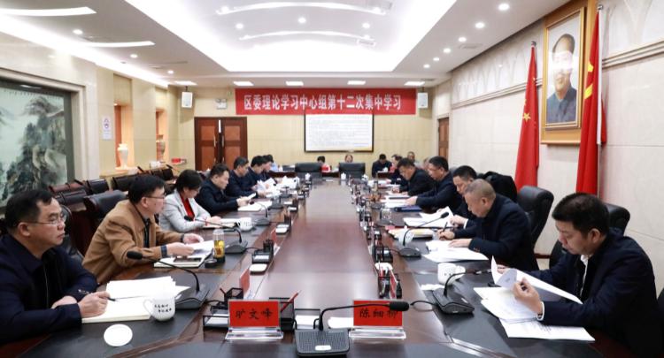 刘浪主持召开八届区委第八次常委会会议