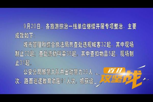 """""""百日攻坚战""""活动日小结(9月20日)"""