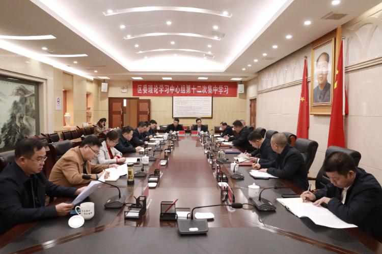 刘浪主持区委理论学习中心组第十二次集中学习