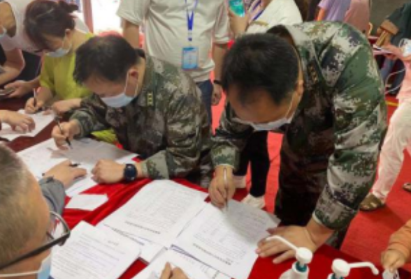 粤汉街道稳步推进新冠疫苗接种工作