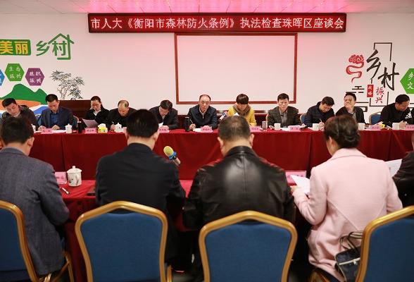 市人大执法检查组到我区检查《衡阳市森林防火条例》执行情况