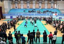 推动全民参与健身运动 我区第二届干部职工气排球比赛举行开幕式