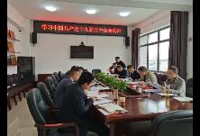 酃湖乡党委理论学习中心组开展2020年第十次集体学习