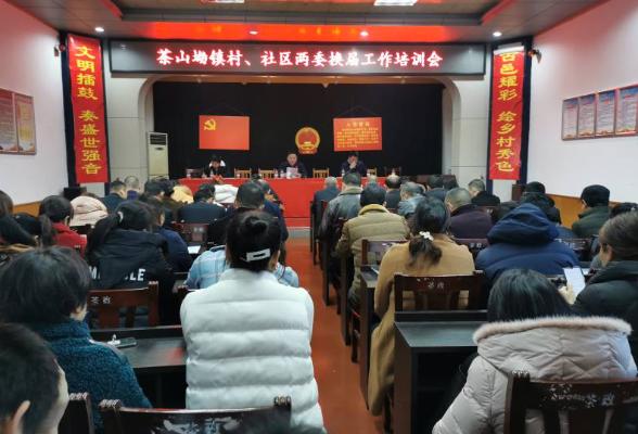 茶山坳镇开展村、社区两委换届选举培训工作