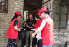 """冶金街道""""衡阳群众""""志愿者入户走访助力文明创建"""