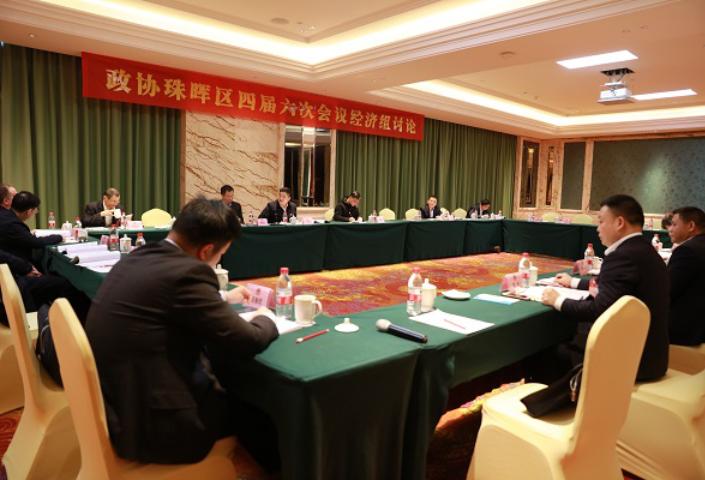 区政协四届六次会议进行分组讨论