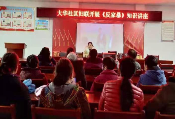 大华社区妇联组织开展反家暴知识讲座 传播防范家暴知识