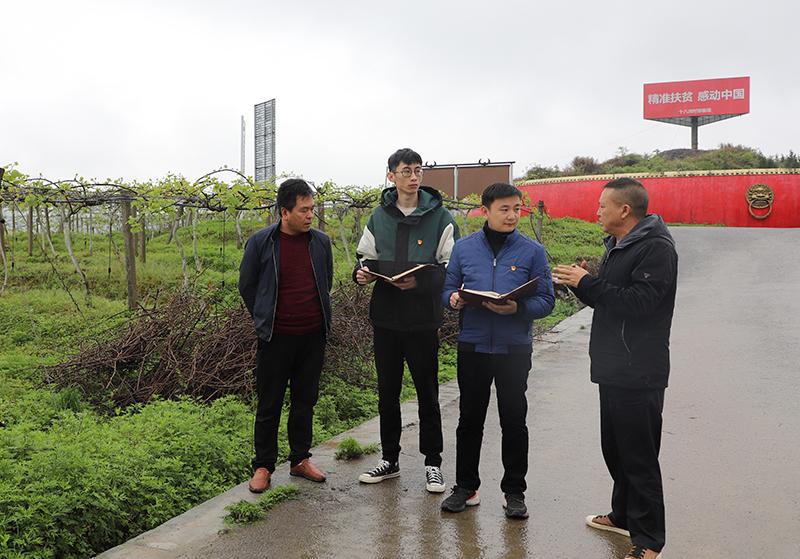 4月7日,花垣县纪委监委党风政风监督室干部到花垣县十八洞村猕猴桃基地了解产业发展、分红等情况。2.jpg