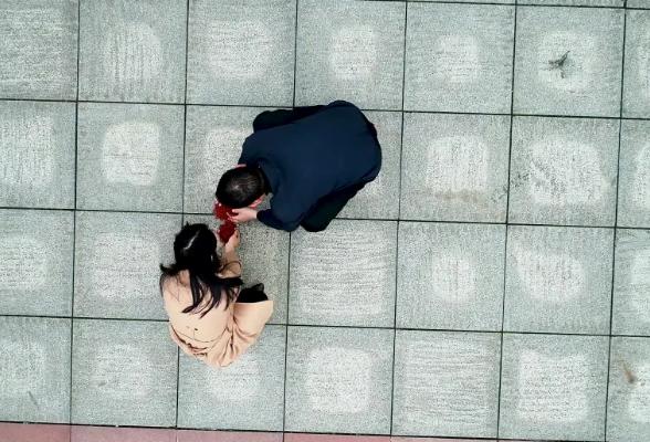 视频 | 湘阴10吨彩砂绘制294平方米巨型党旗