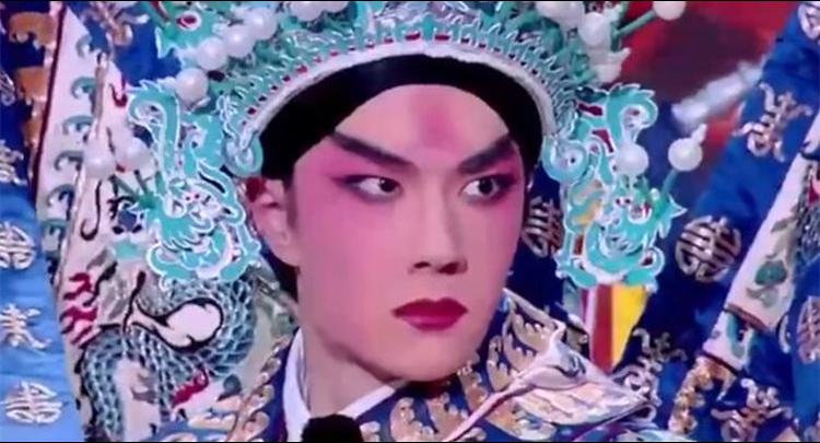 王一博京剧扮相唱《长坂坡》
