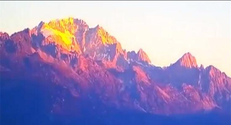 云南丽江:玉龙雪山现金顶景象
