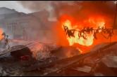 身边的安全 贵州六盘水:居民楼顶熏制腊肉引燃木屋
