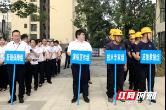 常德天源住建公司联合经房物业公司举行电梯突发事故应急救援演练