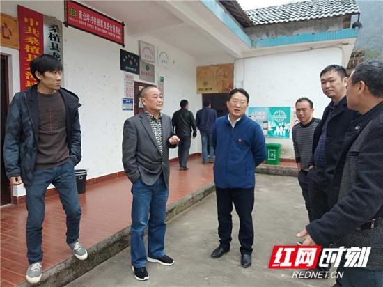 桑植:袁宏卫到龙潭坪镇指导扶贫产业后续帮扶工作