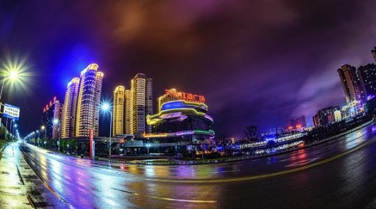 湘潭县:流光溢彩 夜景迷人
