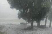永州新田部分乡镇遭遇强对流天气 暴雨冰雹大风齐袭