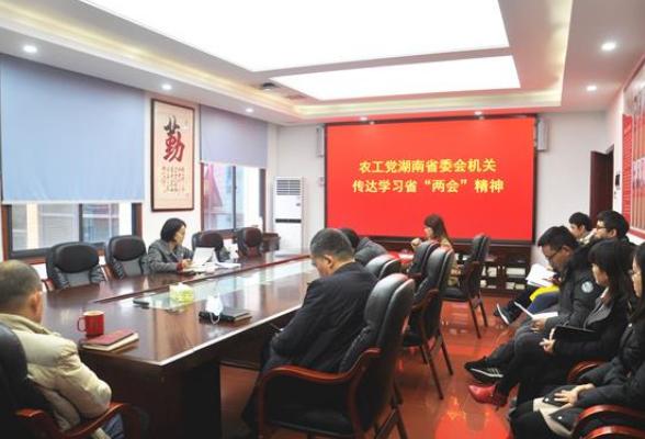农工党湖南省委会机关传达学习省两会精神