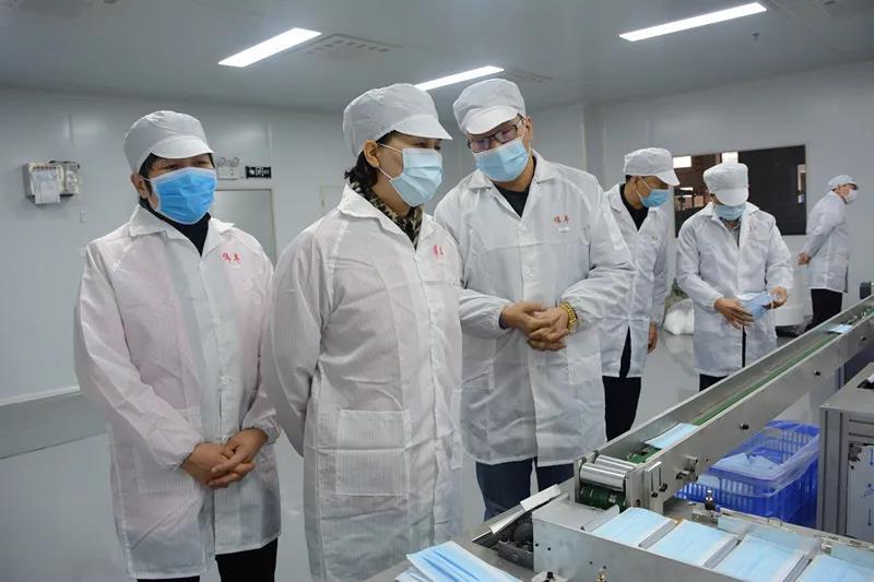 黄兰香考察郴州市伟丰实业有限公司。