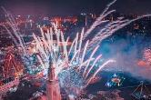 长沙世界之窗上演全景跨年焰火秀/340+217