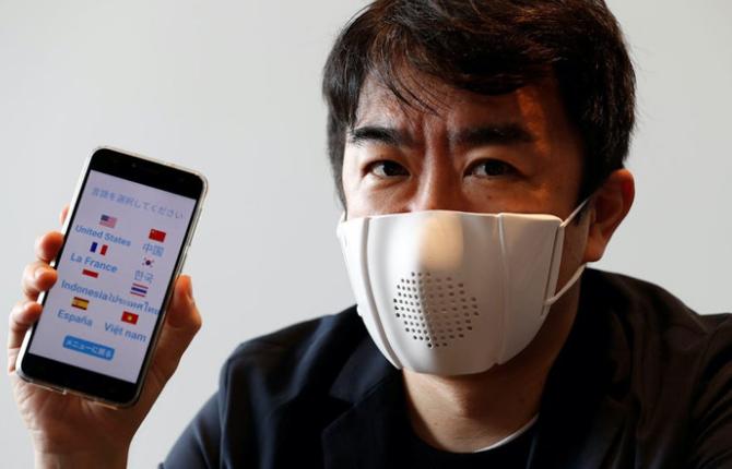 双语 | 日本研发出智能口罩 可以将对话翻译成8种语言