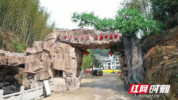 千马坪瑶族村因地制宜,充分发挥生态优势,积极做好生态旅游文章,打造千年银杏王、百亩花海等景点,今年年初还在村口建起了仿生态牌楼,为村里又增添了一道景观。