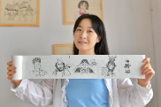 """Tissue paintings by Chinese """"post-95s"""" girl draw wide attention online"""