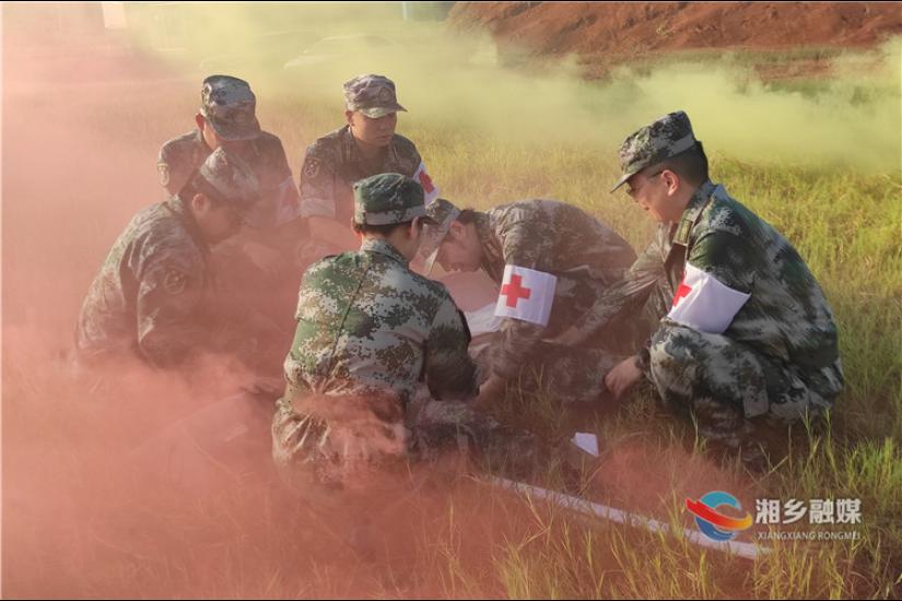 市人武部开展民兵医疗救护连支援保障陆上作战行动综合演练