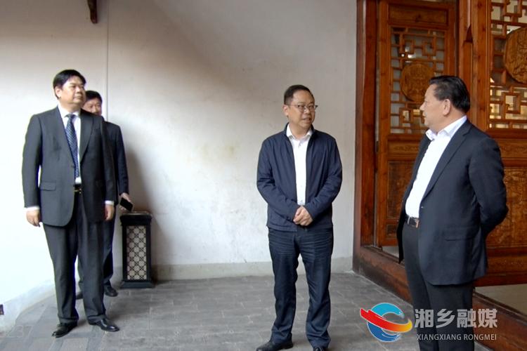 湖南省文联主席 省书法家协会主席鄢福初到褚公祠参观考察