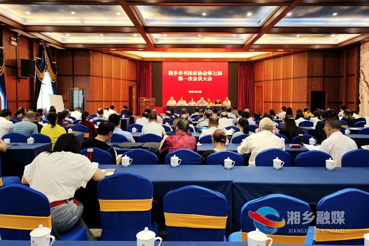 湘乡市书法家协会换届 傅炜当选市书协主席