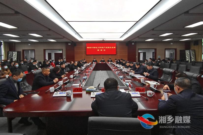 """擦亮""""电力湘军""""品牌 周俊文与企业家共话电力产业园发展"""