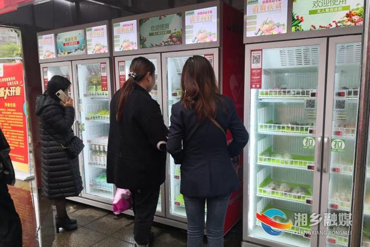湘乡首批生鲜智能售货专柜上线 助力乡村振兴