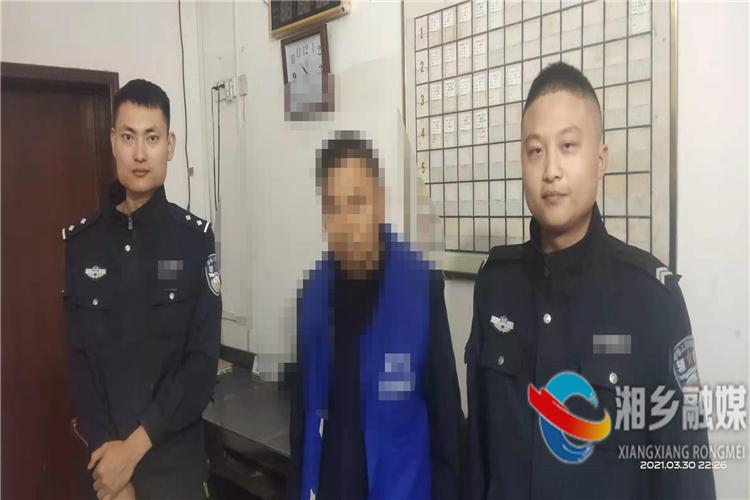 [翻江镇]依法行拘一名无证驾驶人员