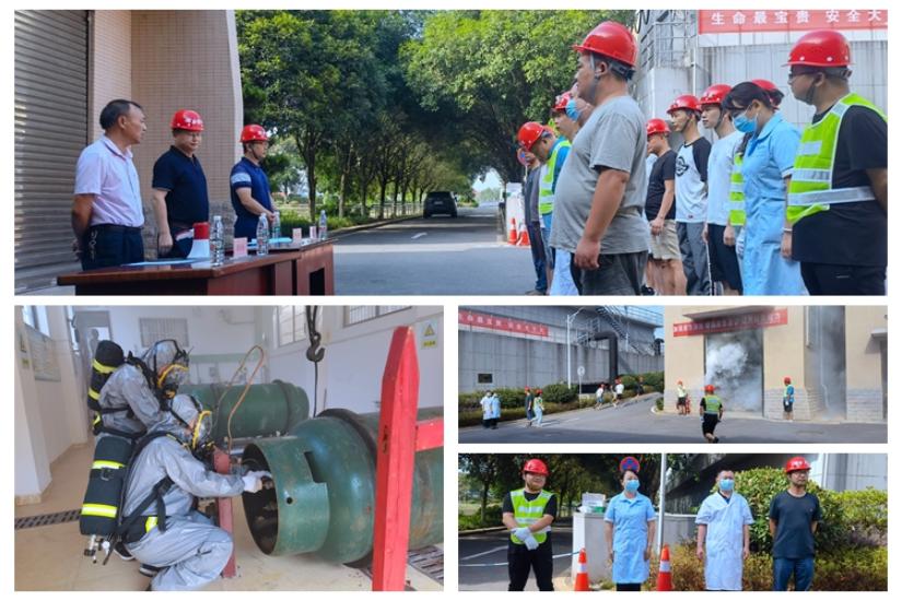 [城管局]液氯泄漏应急演练 筑牢安全生产防线