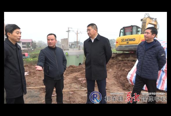 周志敏调度河洲、粮市污水处理设施建设进度