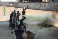 消防演练学应急 共建平安和谐园区