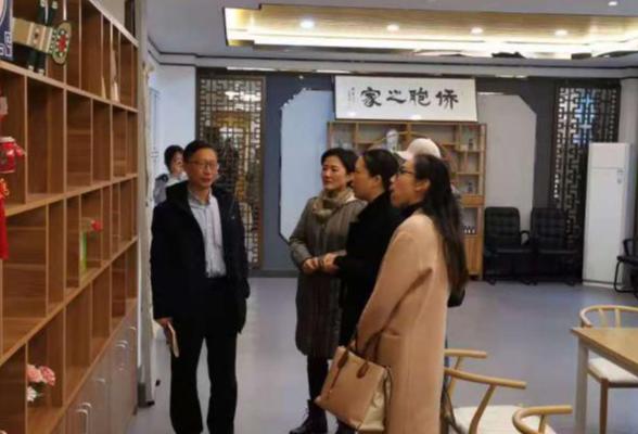 长沙市委台办调研赤岭路社区涉台教育基地建设情况