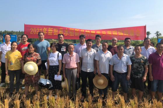 我县举行2021年水稻新品种展示示范现场会