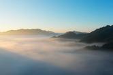 双牌阳明山:山峦如黛 日出云海