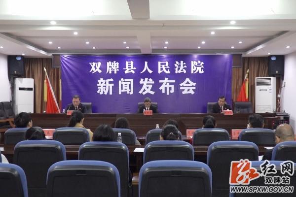 双牌县人民法院召开扫黑除恶专项斗争新闻发布会