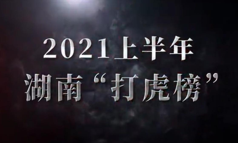 """【短视频】2021上半年湖南""""打虎榜"""""""