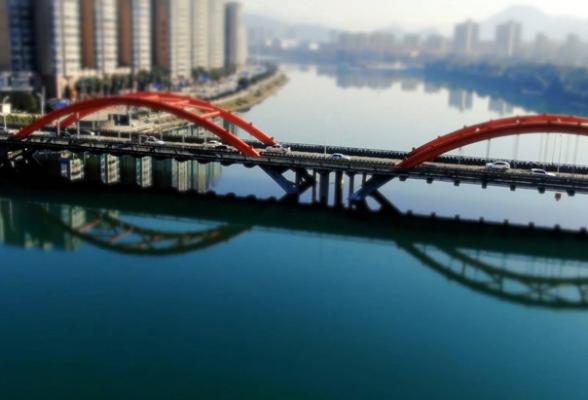 """航拍资兴丨鲤鱼江大桥""""新装""""亮相展魅力"""