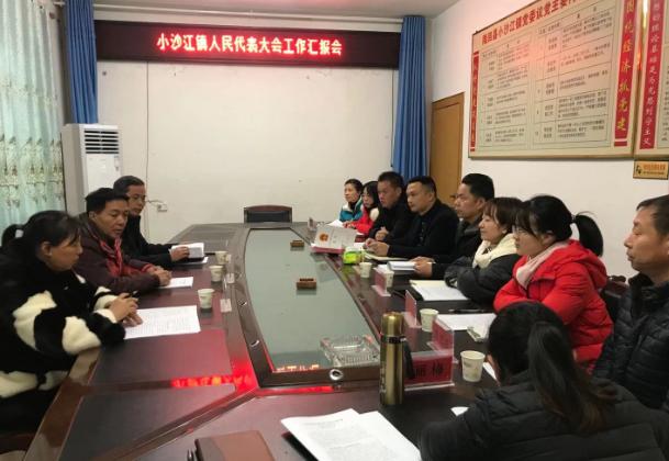 县人大常委会调研组到小沙江镇听取镇人大年度工作汇报
