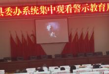 县委办系统组织观看警示教育片《背叛》