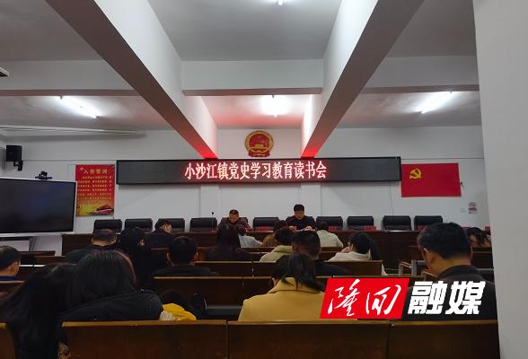 小沙江镇开展党史学习教育读书会