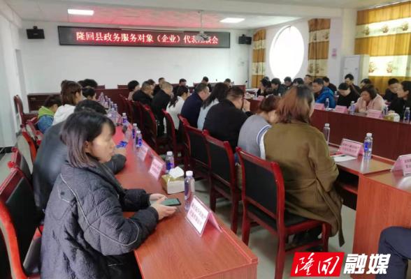 隆回县召开政务服务对象(企业)代表座谈会