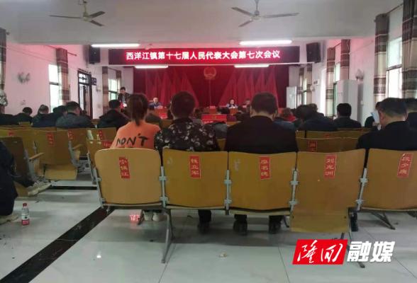 西洋江镇召开第十七届人民代表大会第七次会议
