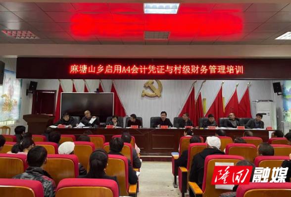 麻塘山乡召开A4会计凭证与村级财务管理培训