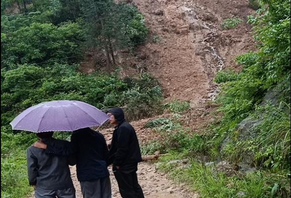 西洋江镇切实加强汛期地质灾害隐患排查