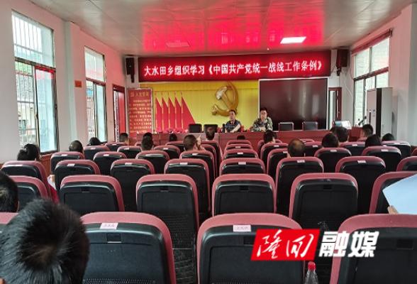 大水田乡组织学习《中国共产党统一战线工作条例》